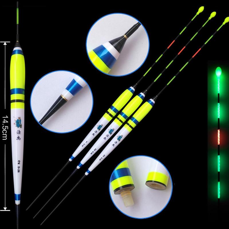 WLPFISHING Fishing Floats Big Buoyancy 1-3# LED Glowing Luminous Float Balsa Carp Bobbers Fishing Accessories Tackles