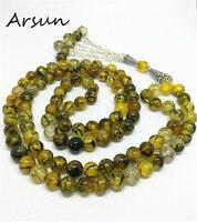 99 Beads 8mm Natural Stone Muslim Prayer Beads Islamic Tasbih Allah Prayer Rosary Tesbih Islam Misbaha