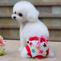 Hot Sale Panties Dog Star Bows Brand Cotton Physiological Pants For Puppy Chihuahua Yorkie S M
