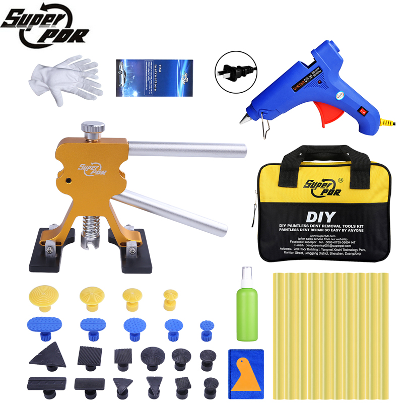 Super PDR Newest Dent Pullers Suction Cup Glue Tabs Hot Melt Glue Gun Hot Adhesive Glue Sticks Piantless Dent Removal Tools Kits super pdr tools dent removal kit for car dent puller suction cup glue sticks for hot melt glue gun line board pump wedge air bag