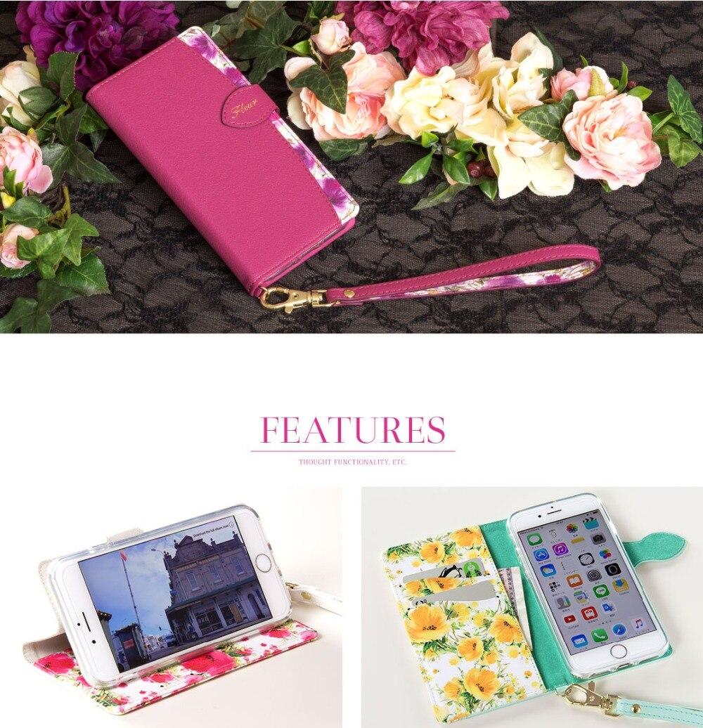 Funda Phone Case For iphone 7 8 7plus 8 plus  X  Funda Flip Case  Phone Cases PU Leather Women Magnetic Flip Flower Design