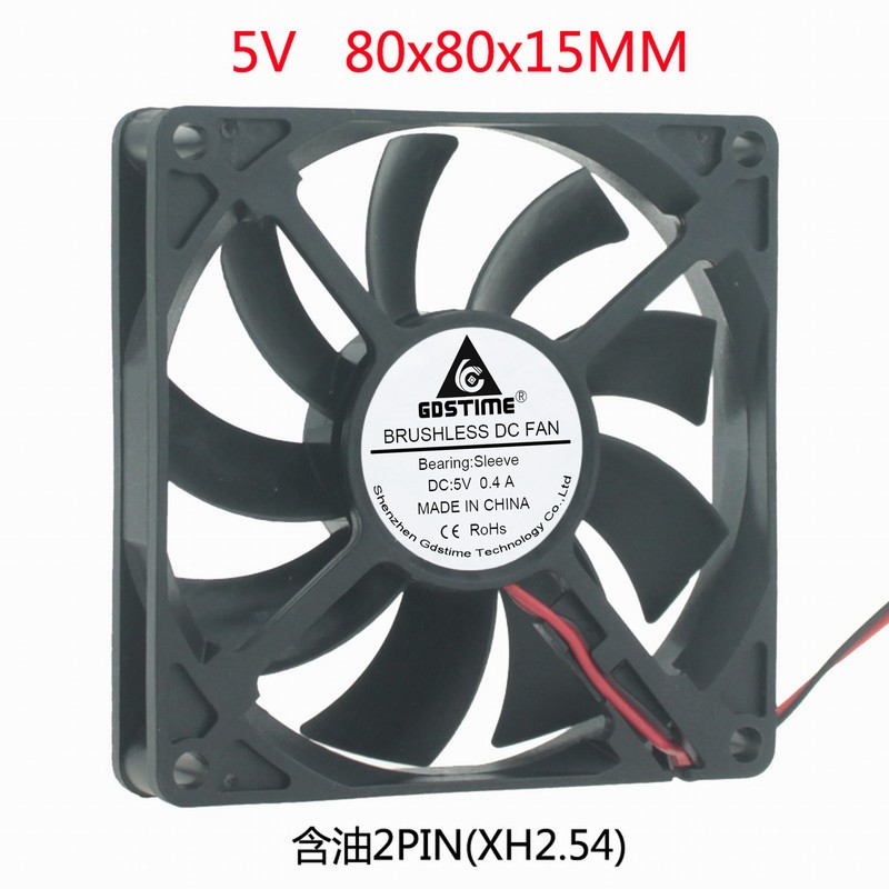 DC DC 5V 8cm 80MM 8cm cm <font><b>80x80x15</b></font> Power supply cooling <font><b>fan</b></font> image