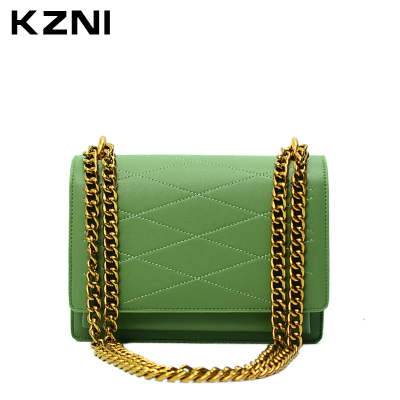 KZNI Genuine Leather Designer Crossbody Shoulder Clutch Women Bags Female Luxury Handbags Women Bags Designer Sac a Main 9003 kzni genuine leather designer crossbody shoulder clutch women bags female luxury handbags women bags designer sac a main 9003