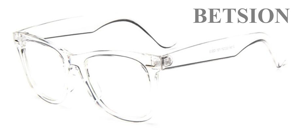 76c315ca71 BETSION Vintage Transparent Eyeglass Frame Spectacles Full Rim Retro  Fashion Man Women Glasses Rx able