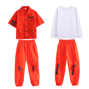 Image 5 - Kids Hip Hop Clothing Girls Boys Sweatshirt Jogger Pants Jazz Dance Costumes Set Ballroom Dancing Clothes Outfits Boys Coats