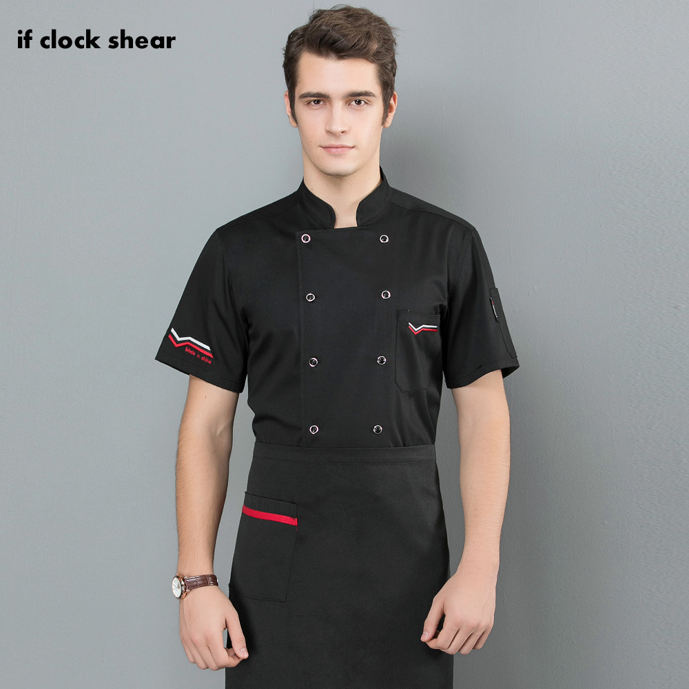 Double Breasted Cotton Chef Jackets M-3XL Embroidery Chef Uniforms Restaurant Hotel Catering Bakery Waiter Shirts Men And Women