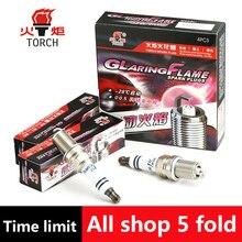 4pcs/lot China original TORCH Iridium U groove spark plugK6RIU for CHEVROLET aveo/captiva/lacetti/lanos/DAEWOO nexia,etc.