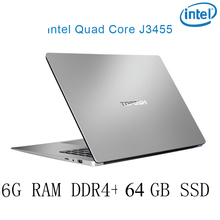 P2-08 6G RAM 64G SSD Intel Celeron J3455 Gaming laptop notebook computer keyboard and OS language available for choose