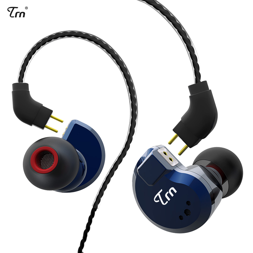 TRN V80 2DD+2BA Hybrid Earphone Sport Noise Canceling Stereo Bass Headset 2 PIN Detachable Cable pk V60 for iPhone xiaomi huawei yinyoo ny 06 2dd ba hybrid earphone metal noise canceling stereo bass headset 2 pin 0 78mm detachable cable for iphone xiaomi