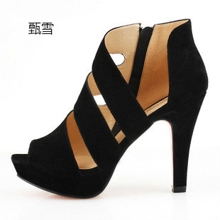 Women's Sexy Fish Mouth Shoes, Ladies' New Sandals, Summer High Heels, Waterproof Table, Rome Shoes summer new pearl rhinestone sandals sexy nightclub fine with waterproof shoes 12cm fish head buckle sandals t