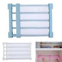 Adjustable Shelf Wardrobe Storage Rack Space Saving Cabinet Divider Organizer Clothes Drying Rack Bathroom Organizer