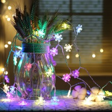 цена на JUNJUE Christmas Tree Snowflakes Holiday Led light String Fairy Light Xmas Party Home Decor Battery And Plugged Powered Lights