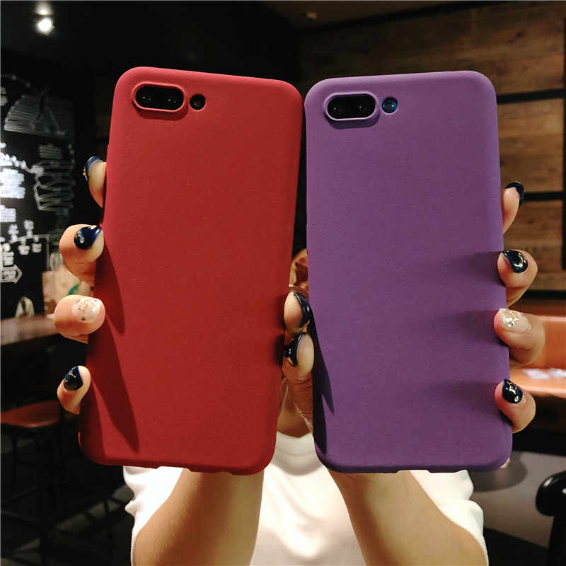 Slim Frosted Sand Texture Matte Case for Huawei Honor 10 Cover TPU Shell Honor 9 8 Lite 5X 5C 5A 6A 6X 7X 7C Silicone Phone Case