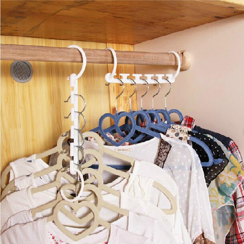 8pcs/bag Arrival 3d Space Saving Hanger Cabide Clothes Racks Magic Hanger New Hot Bedroom Decor Organizer Home Tool Racks