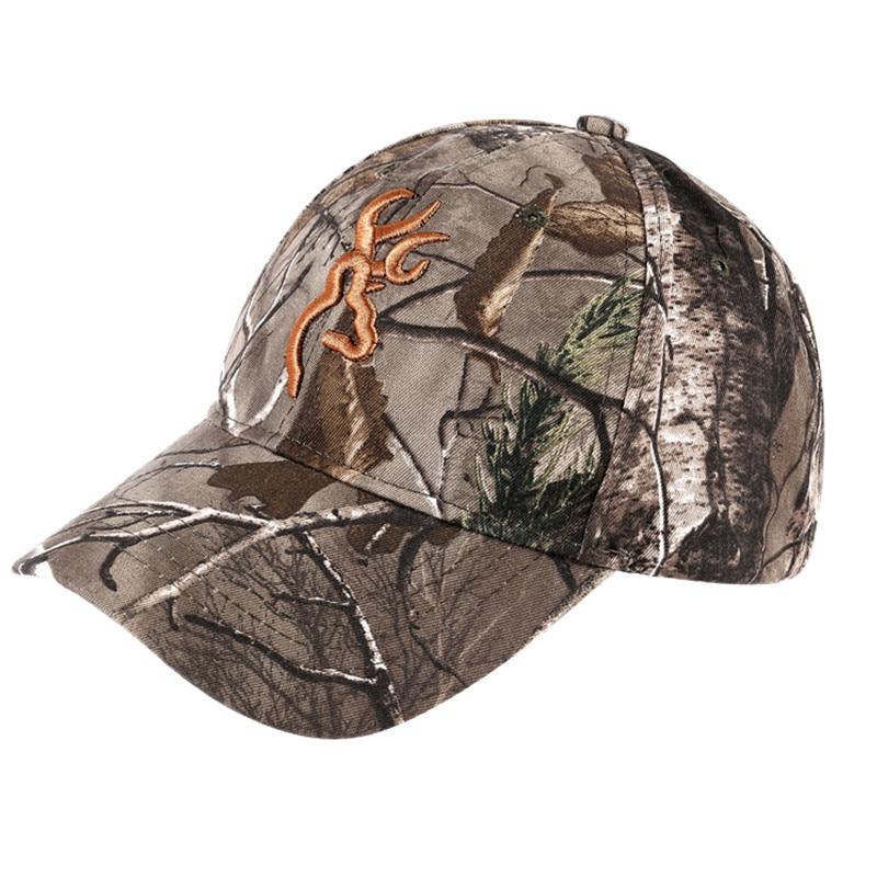 SAENSHING Camouflage Browning Kappe Baumwolle Atmungsaktiv Military Camo Taktische Baseball Caps Outdoor Marke Hut Angeln Jagd Caps