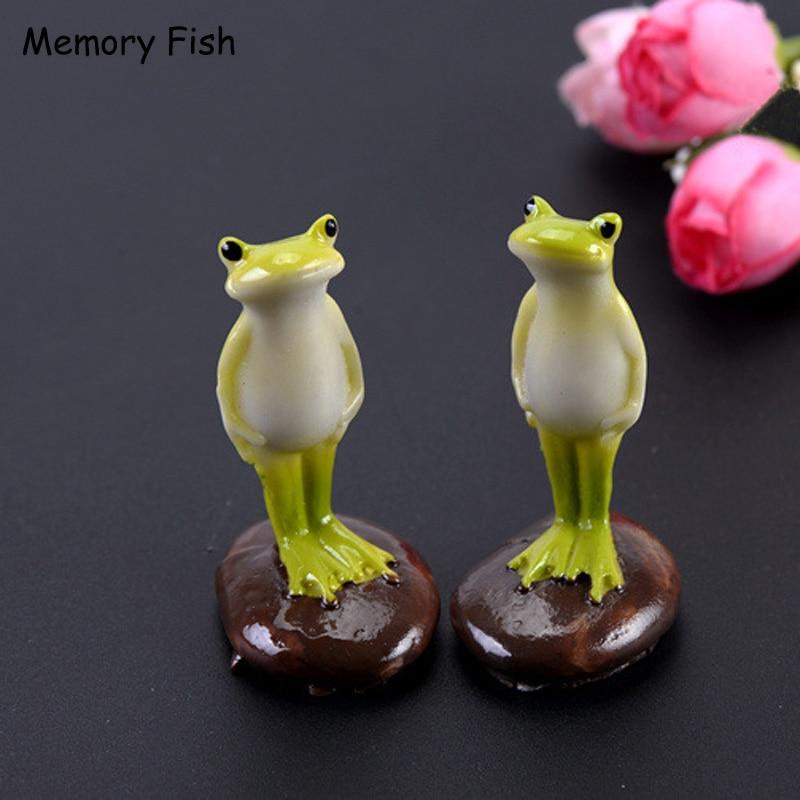 Dollhouse Garden-Figurines-Toys Diy-Accessories Animal Funny Cute Decor-Ornaments Frog