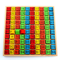 Baby wooden Toys 99 Multiplication Table Math Toy 10*10 Figure Blocks Baby learn Educational montessori gifts montessori