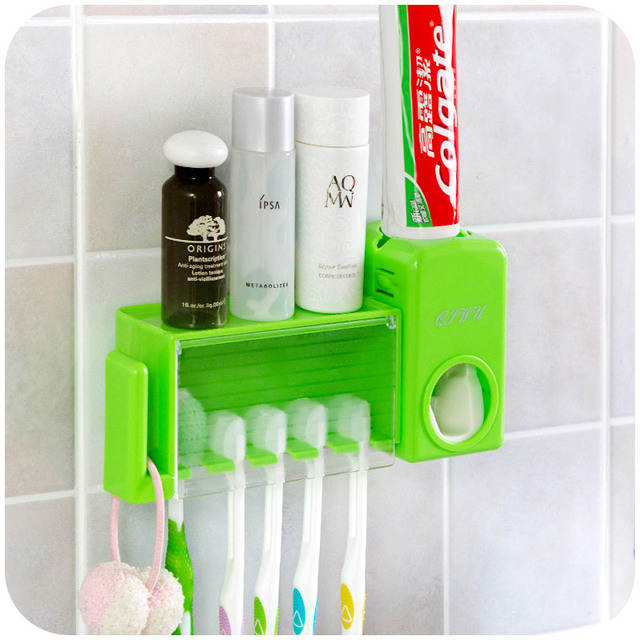 3 colors Fashion Home Bathroom Bathroom Automatic Toothpaste ...