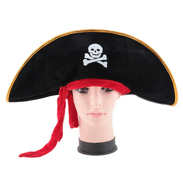 25688c59e542c 1pc Pirate Captain Hat Halloween Party Cosplay Pirate Hat Decoration Holiday    Party Decorative Tools Kit Accessories JK1248