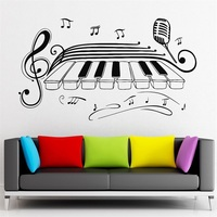 Wall Stickers Vinyl Decal Classical Music Piano Jazz Blues Microphone
