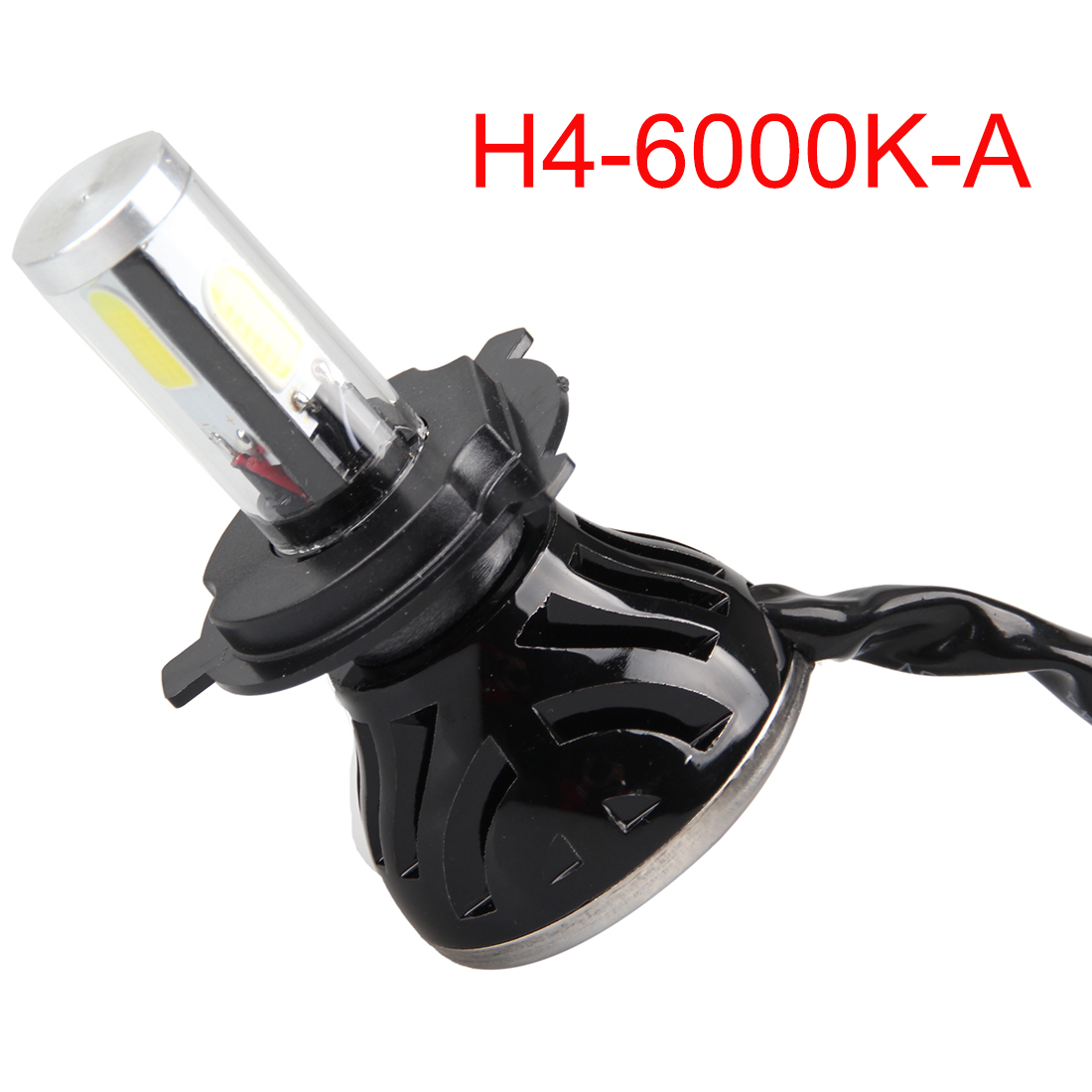 HOT Auto Care H4 Car Led Headlight High Power Diamond Auto H4-3 Hi/lo High Low 40W X2 White 6000K Repalcement Bi xenon Headlamp