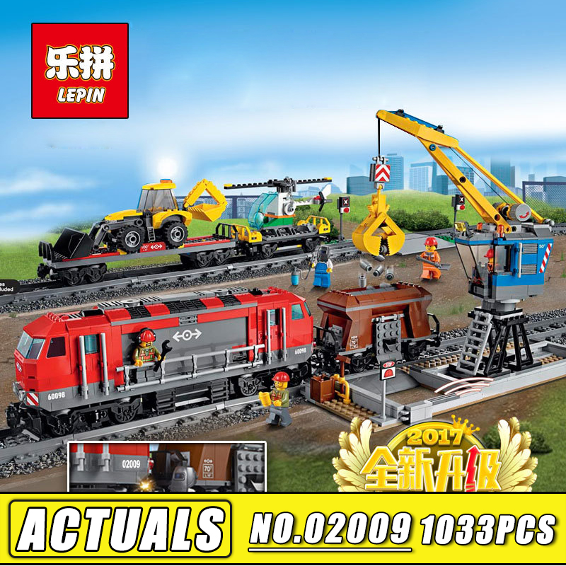 DHL Lepin City RC Train Building Blocks the Red Cargo Rail Train compatible legoinglys Technic Bricks Children Birthday Gift cargo train model block toys city rc train birthday gifts for children compatible lepin technic series building blocks set 02008