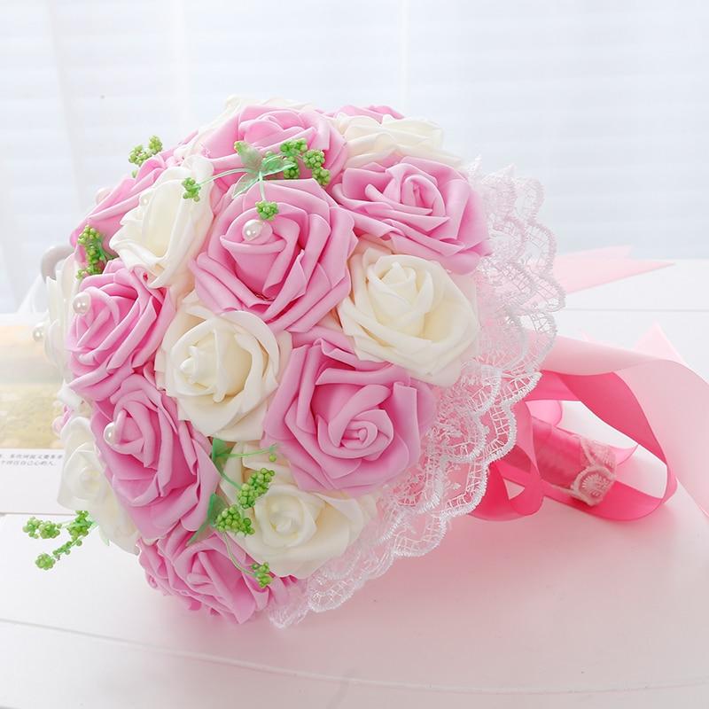 Korean Wedding Flowers: 2017 Creative Bride Bouquet Simulation Flower Korean