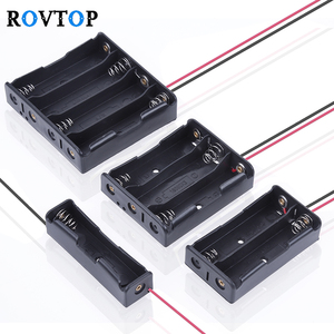 Rovtop 4/3/2/1x 18650 Battery Storage Box Case DIY 1 2 3 4 Slot Way Batteries Clip Holder Container With Wire Lead Pin Z2(China)