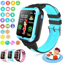 Brand New E7 Children Smart Watch AGPS LBS Location Waterproof Kids Baby Smartwatch Touch Screen Wristwatch for iOS Android