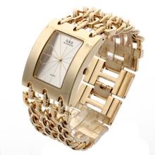 G&D Luxury Golden Womens Quartz Wristwatch Bracelet Watch Relogio Feminino Women Dress Clock Reloj Mujer Jelly Gifts