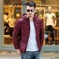 Genuino delgado por la chaqueta de los amantes de los hombres otoño y el invierno en los ancianos ultra-ligero por la chaqueta