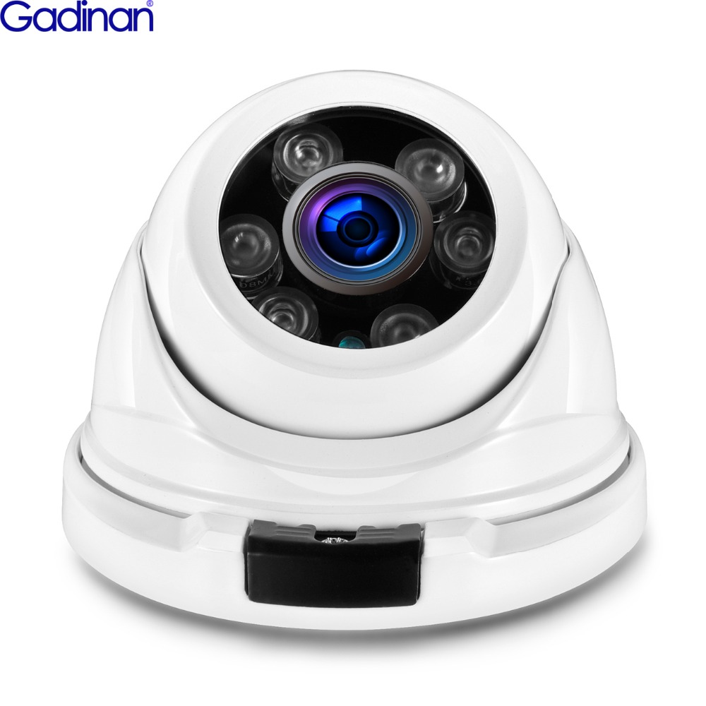 Gadinan 4MP Security IP Camera Metal Anti-vandal 48V POE 2.8mm Wide Angle ONVIF CCTV Video Surveillance Dome IP Cam XM530AI