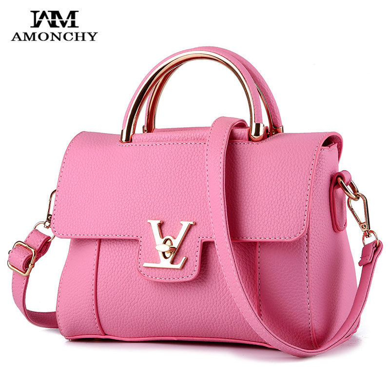 Spring/Summer Fashion Women Bags High Quality PU Leather Shoulder Messenger Bags Brand Design Ladies Handbags Tote V Handle Bag стоимость