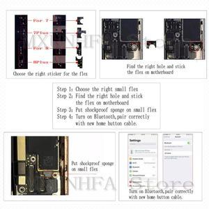 Image 2 - 10 adet/grup Evrensel Ev Düğmesi Flex Kablo iPhone 7 için 8 Artı Menü Tuş Takımı Dönüş Fonksiyonu Çözüm Montaj 3rd Gen yedek