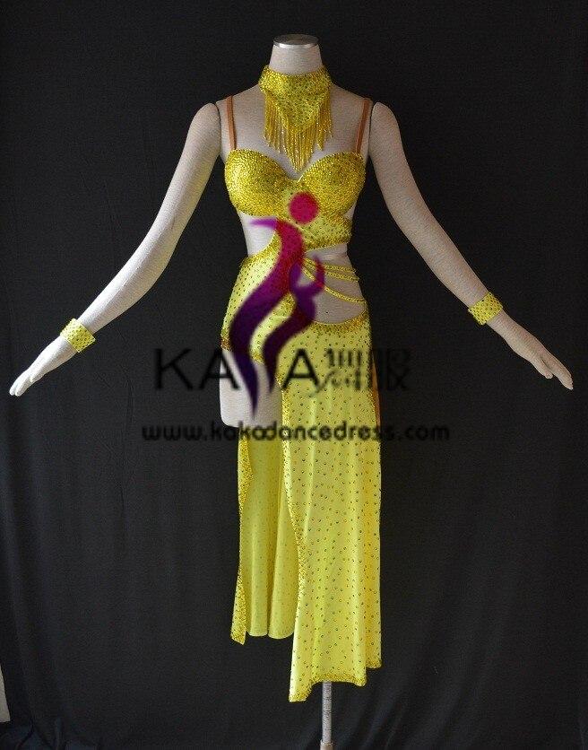 MujerVestido Baile Latino Con L1542Ropa Kaka De Para Flecos JT1uclFK3