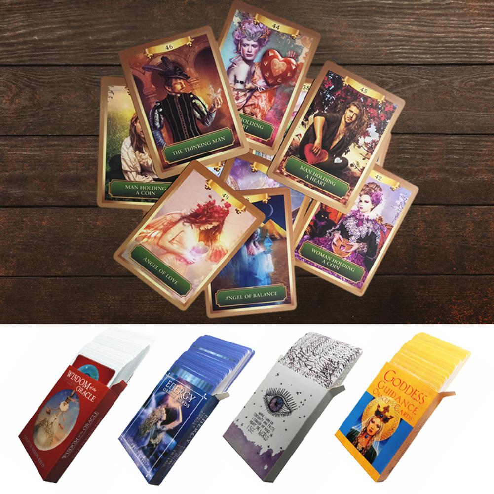 Knowledge Oracle Cards 52 Cards Guidance English Mysterious Fortune Tarot Cards Game For Family Kids Girls