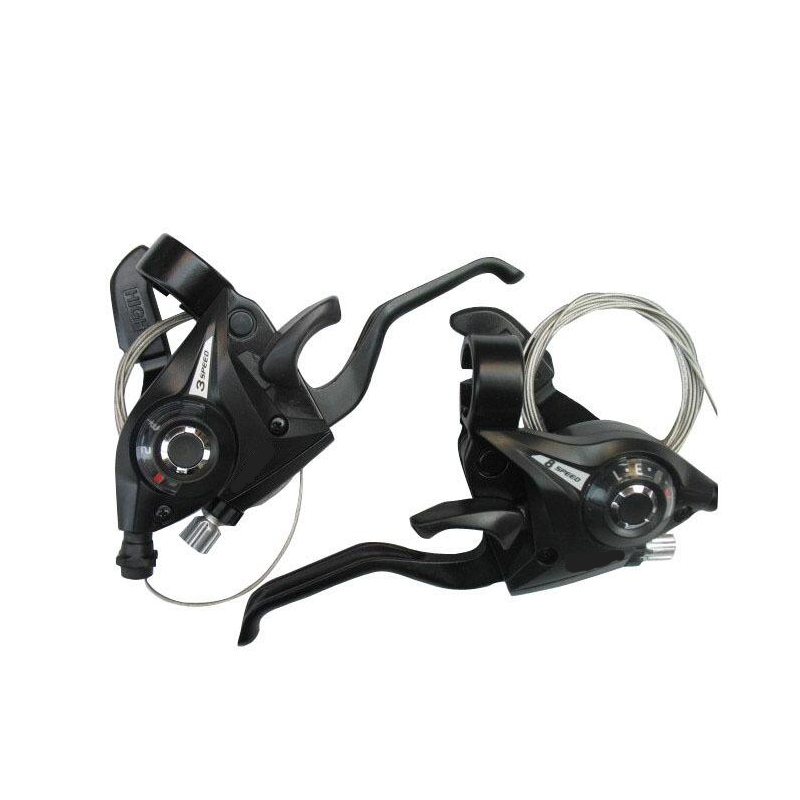 2pcs/pair MTB Bicycle Shifter Brake 3 x 8 24 Speed Mountain Road Bike Cycling Disc Brakes Levers with Shift Cable Riding ACC