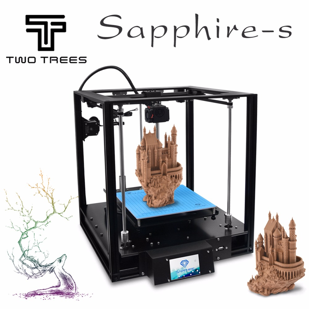 2018 Nouveau 3D Imprimante Haute-précision Saphir CoreXY nivellement Automatique En Aluminium Profil Cadre Grande Zone DIY Kit Core XY structure
