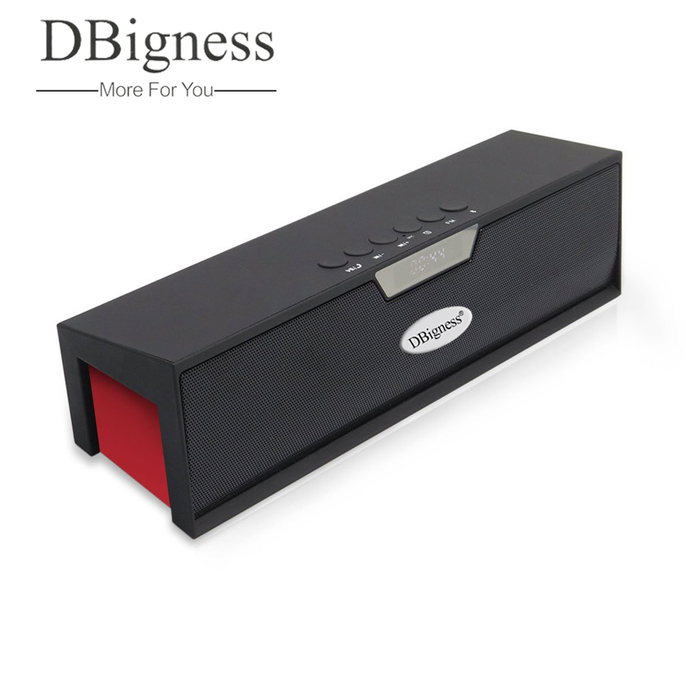 Dbigness Bluetooth Speaker Hifi  Alarm Clock Protable Speaker Wireless Big Power 10W with USB FM Radio AUX Amplifiers SDY019