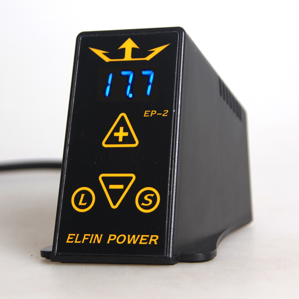 YILONG ELFIN EP-2 Tattoo Power Supply Professional Digital LCD Mini Tattoo Power Supply Supply Tattoo Machine Free Shipping yilong yilong lcd dual tattoo machine gun power supply