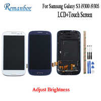Remanbor For Samsung Galaxy S3 LCD i9300 i9305 i9300i i9301 i9301i LCD Display and Touch Screen +Frame With Tools And Adhesive