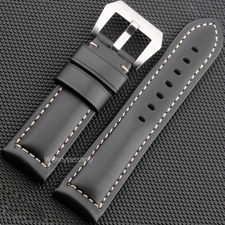 22 24 26mm Newest Men Women Black Brown Real Leather Handmade Thick Wrist Watch Band Band