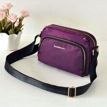 Простая Студенческая мини-сумка для всех, квадратная сумка, нейлоновая ткань Оксфорд, женская сумка