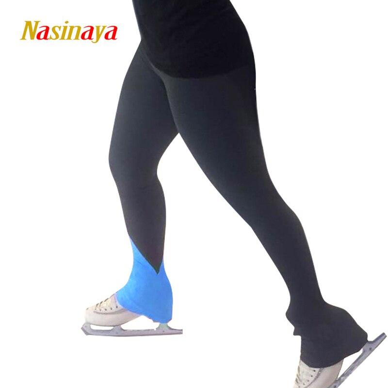 Индивидуальные рисунок брюки для катания на коньках длинные брюки для девочек для женщин Обучение конкурс Patinaje Катание на коньках теплый ф...