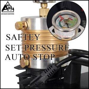 Image 2 - 4500PSI высокое давление авто Стоп Электрический PCP компрессор возвратно поступательный воздушный насос для пневматического оружия подводная винтовка PCP Надувное устройство