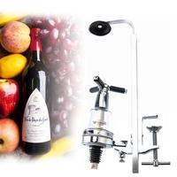 Table Mounted Wine Bar Butler With Single Optic 25ml Rotary 1 Shot Alcohol Dispenser Wine Stand