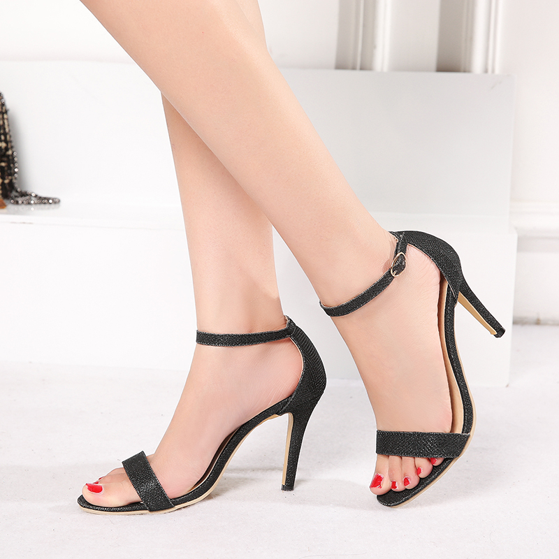 new 2017 Women sandals Plus size 34-45 buckle strap summer shoes woman fashion thin high heels Gladiator sandals women Sandalias summer high quality women flats sandals plus size 34 43 new fashion casual ladies sandalias comfort mujer gladiator woman shoes