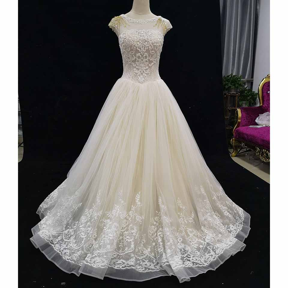 Selling Wedding Gowns: Aliexpress.com : Buy Lace Beaded Wedding Dresses 2018 O