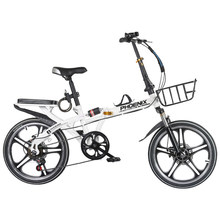 16/20 Inch 6 Speed High Quality Student Folding Bike bicicleta Men and Women Bicycle Double Disc Brake Mountain Road Kids Bike(China)