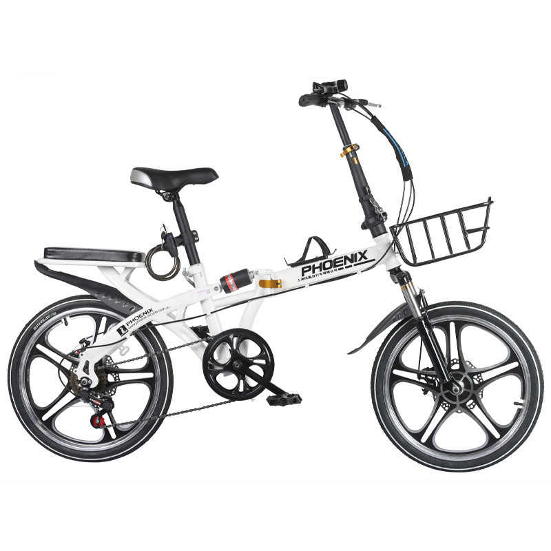 16/20 Inch 6 Speed High Quality Student Folding Bike bicicleta Men and Women Bicycle Double Disc Brake Mountain Road Kids Bike